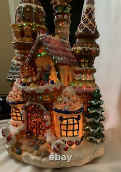 Holiday Living 15 Fiber Optic GINGERBREAD HOUSE //NIB// Animated/Illuminated