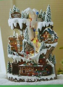 Holiday Living Morgan Ski Lodge and Retreat Christmas Village Light Up Animated