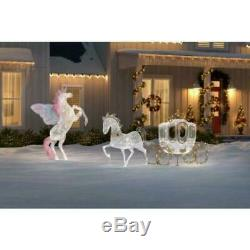 Home Accents Holiday Spirited Sparkle 48 in. Christmas LED Carriage and Horse
