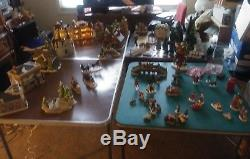 Huge Lot Approx 60+ Piece Christmas Village House Accessories Dept 56. Dickens+