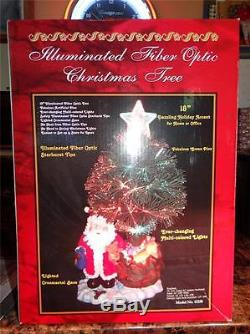 Illuminated Fiber Optic Christmas Tree & Santa Claus