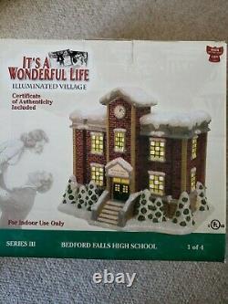 It's A Wonderful Life Bedford Falls High School Illuminated Village/Christmas