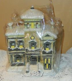 It's A Wonderful Life Henry Potter Illuminated Mansion Enesco 2005 RARE COA MIB