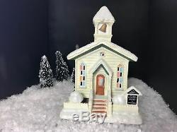 Its A Wonderful Life Enesco Christmas Village Bedford Falls Church! NIB! RARE