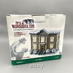 Its a Wonderful Life Christmas Village City Hall Village Hall Enesco Series 2