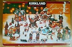 Kirkland Signature 32 Piece Porcelain Lighted Village Christmas Holiday TESTED