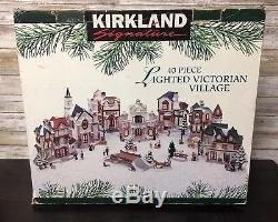 Kirkland Signature LIGHTED VICTORIAN VILLAGE Christmas set 40 Piece
