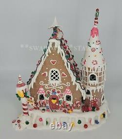 Kurt Adler 12.5 Gingerbread Inn Clay-dough House D2414 Light Up With C7 Bulb