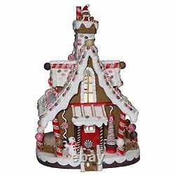 Kurt Adler 12-Inch Lighted Village Christmas Gingerbread House Ships Globally