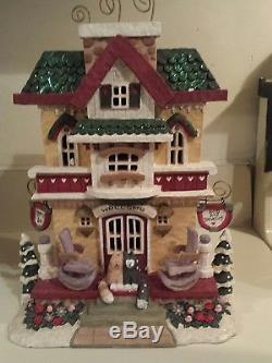 Kurt S. Adler Egg Nog Inn Santa's World Snowtown In Box