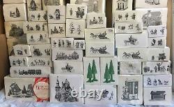LARGEST Lot of 125 DICKENS VILLAGE DEPARTMENT 56 HERITAGE CHRISTMAS FIGURINE RL