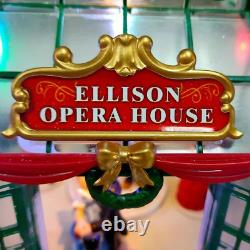LED Christmas Village Opera House Lighted, Animated & Plays Music 11H x10W
