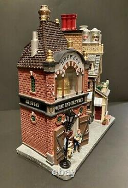 LEMAX Beersmith Row Christmas Village Facade Illuminated Tested 05618 LAST ONE