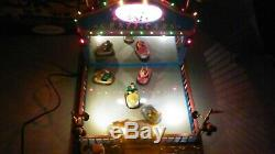 LEMAX CRAZY CARS / Animated Lighted Carnival Bumper Cars Display