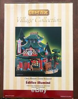 LEMAX Caddington Village CHERRY BLOSSOM CHINESE RESTAURANT RARE, NEW IN BOX