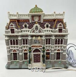 LEMAX Caddington Village House PUBLIC LIBRARY Exterior Lighted 55231, Retired