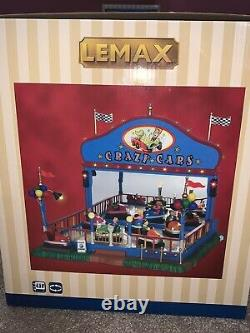 LEMAX Christmas village Carnival CRAZY CARS with Lights and Motion