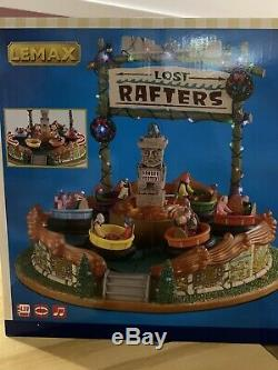 LEMAX Christmas village Carnival LOST RAFTERS with Lights Music and Motion