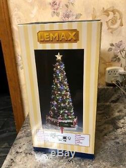 LEMAX Majestic Merry Christmas Tree #84350 Flashing Steady Light NIB 13 Tall