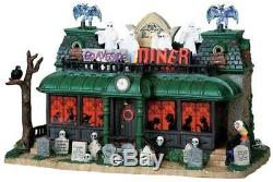 LEMAX SPOOKY TOWN Halloween Village GRAVESIDE DINER Sights & Sounds