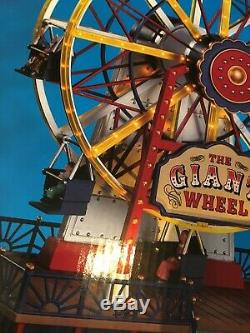 LEMAX THE GIANT WHEEL Train -Carnival -Village SIGHTS & SOUNDS