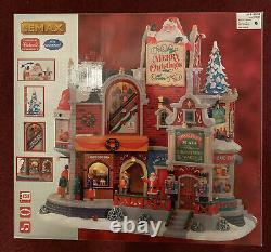 LEMAX Tinseltown Plaza-INSIDE SCENE-Sights & Sounds-MICHAELS EXCLUSIVE! NEW
