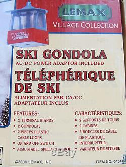 LEMAX Village Collection Ski Gondola, Electric Motion, Tested, Motor Works Great