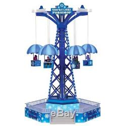 LEMAX Village House SNOWFLAKE PARADROP Carnival Ride Sights & Sounds