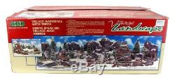 LEMAX Village Mountain Waterfall Trees 84212 Rare Retired SEE NOTES