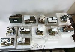 LOT OF (12) Hawthorne Village Train Accessories DEPOT DOCK OFFICE TOWER STATION