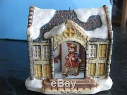 Lot Of 8 Hawthorne M. J. Hummel Christmas Village Houses