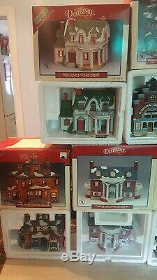 Large Collection Lot Of Vintage Lemax Christmas Village Houses