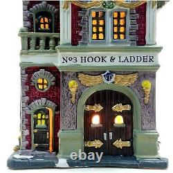 Lemax 2001 Powell St. Fire House Caddington Village #15578 Retired Collectible