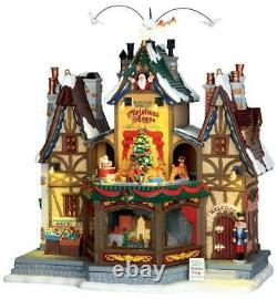 Lemax 2015 HOLIDAY HAMLET CHRISTMAS SHOPPE #55026 NRFB Sights & Sounds