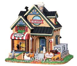 Lemax 25387 CLAWS & PAWS PET HOTEL Christmas Village Lighted Building New S I