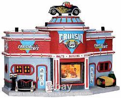 Lemax 25406 CRUISIN' CAFE Jukebox Junction Christmas Village Building'50s S O I