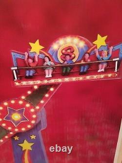 Lemax 54918 THE SHOOTING STAR Carnival Ride Amusement Park Christmas Village I