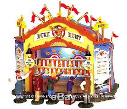 Lemax 64487 DUCK HUNT Carnival Booth Amusement Park Game Christmas Village New I