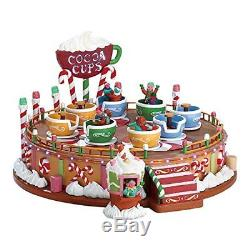 Lemax 74222 Spinning Cocoa Cups Ride Porcelain Village Accessory, Multicolored