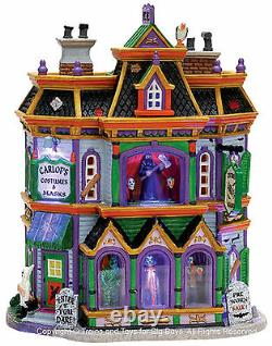 Lemax 75495 CARLOF'S COSTUMES & MASKS Spooky Town Building Halloween Retired I