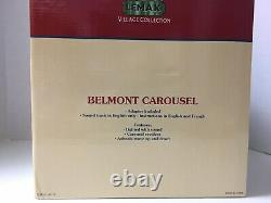Lemax Belmont Carousel 2004 Village Collection Animated Lighted Orig Box Rotates