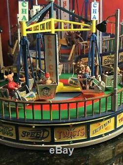 Lemax CARNIVAL Village Ride THE CHA CHA Lights, Sounds & Animation ORIG BOX RARE