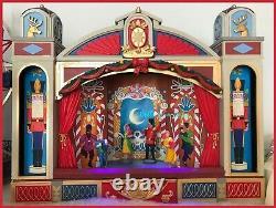 Lemax CHRISTMAS BALLET Nutcracker- SANTA CLAUS Animated 3 Musical Performances
