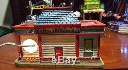 Lemax Carnival Lot Belmont Carousel, Cha Cha, Lemon Stand, Cosmic Swing, Twirlys