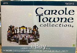 Lemax Carole Town 2015 Collection Lawley Village Skating Rink #672913 Animated