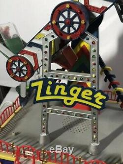 Lemax Carole Town Carnival Ride THE ZINGER Carnival Collection In Box