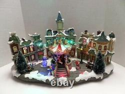 Lemax Carole Towne Collection Center Street Plaza LED Christmas Village Box 2016