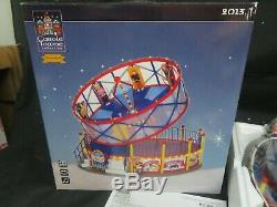 Lemax Carole Towne Round Up Carnival Ride Animated Lighted Musical MIB HW81