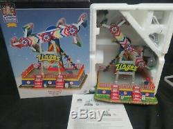 Lemax Carole Towne The Zinger Carnival Ride Animated Lighted Musical MIB HW80