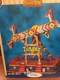 Lemax Carole Towne ZINGER Animated Amusement Carnival Ride Very Rare